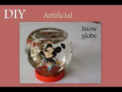 DIY artificial Snow Globe