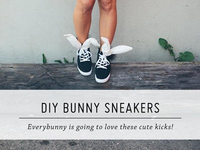 DIY Bunny Sneakers | Spring and Easter Style | Tutorial | Mr Kate