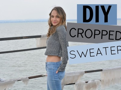 DIY Cropped Sweater (Sweatshirt) Tutorial | Nelle Creations