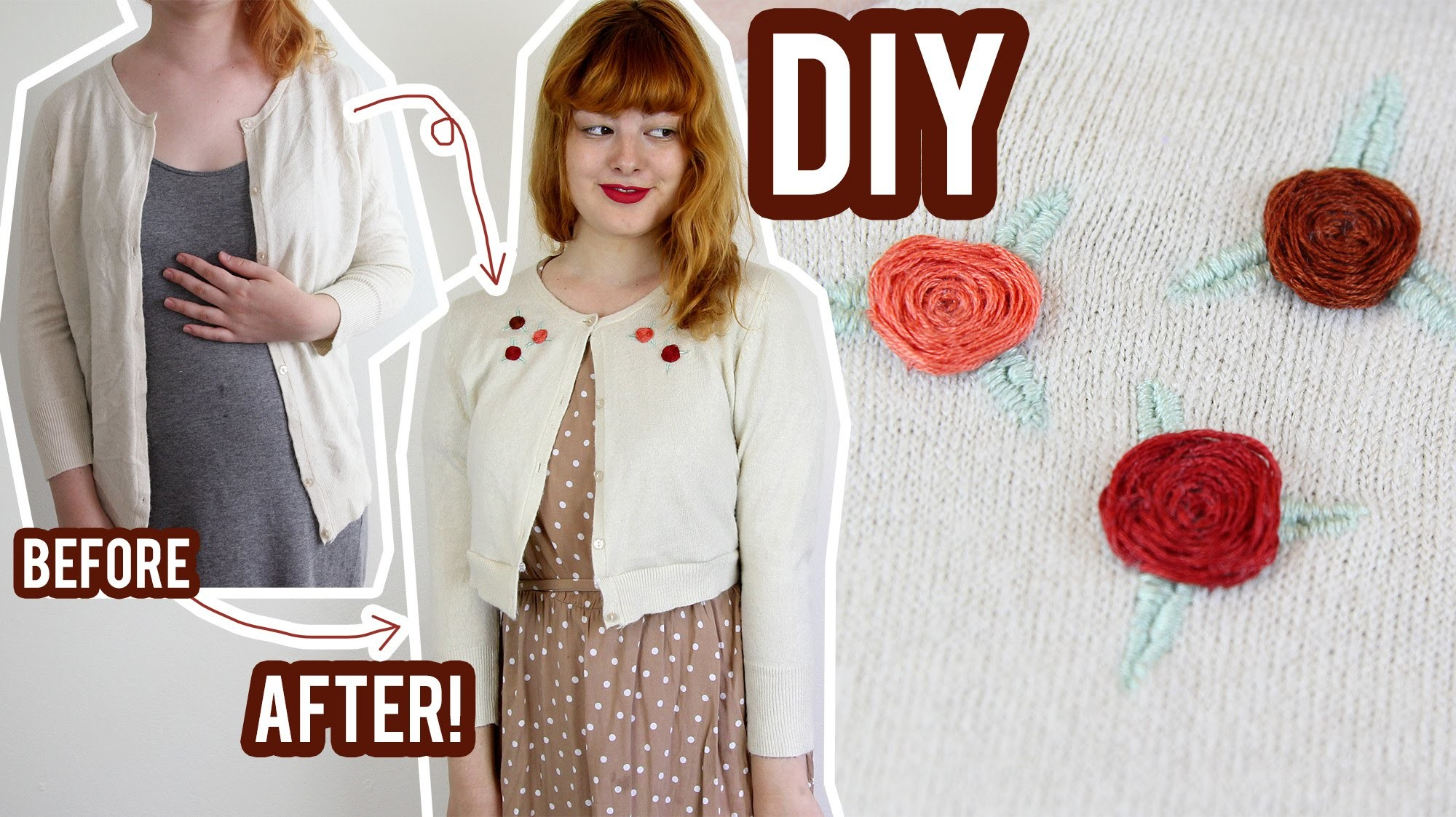 DIY Embroidered Cardigan | The Style Pile #7