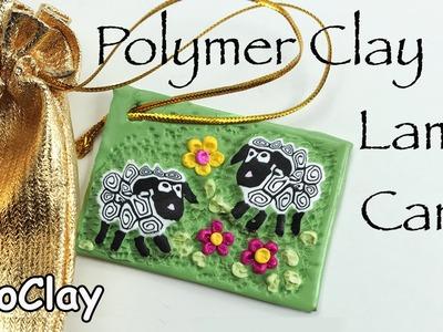 DIY Ester Tag - Polymer clay lamb cane tutorial
