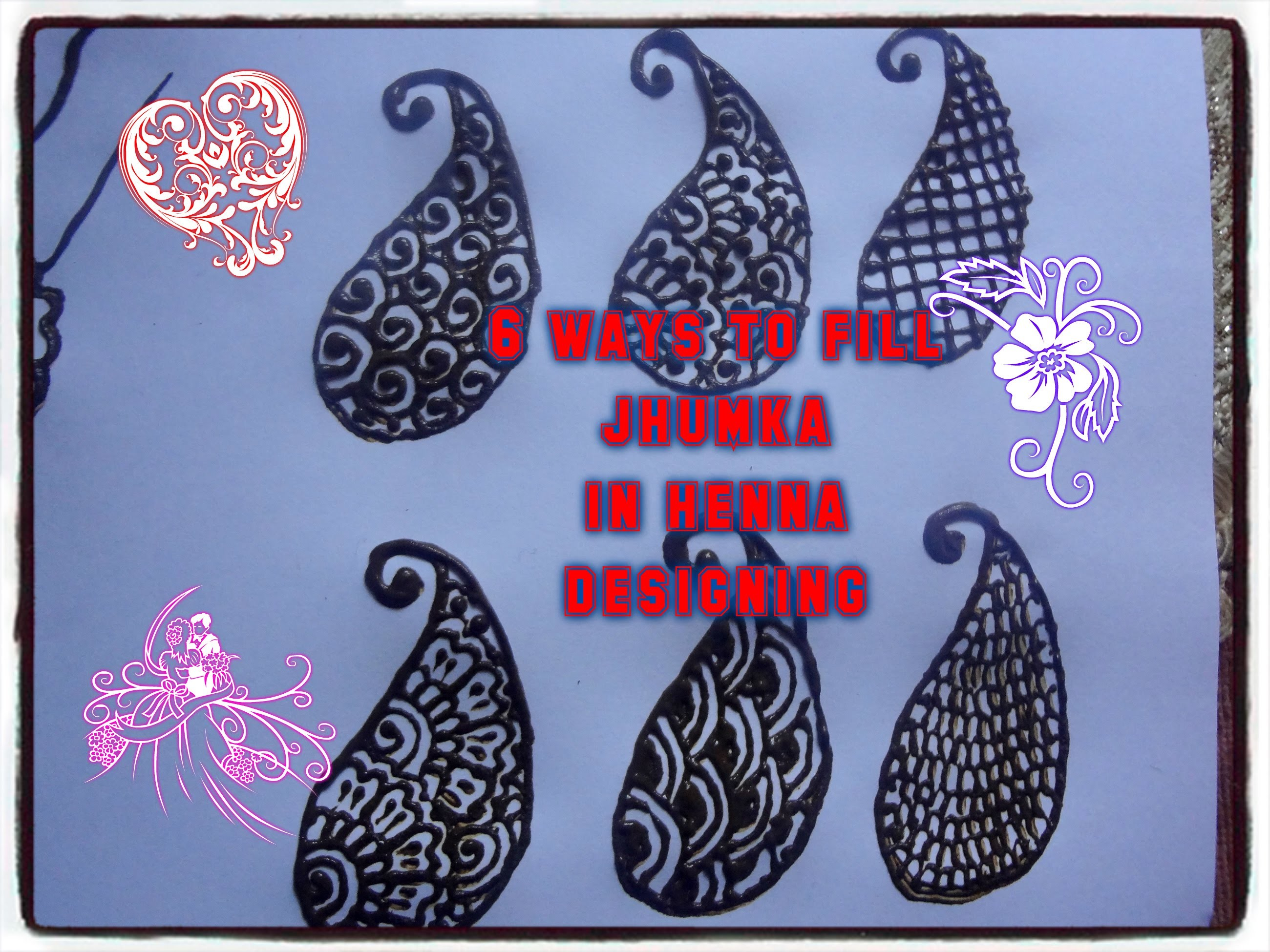 DIY: how to fill paisley or jhumka in henna designing for beginners and professionals