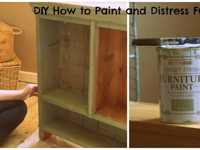DIY How to Paint and Distress Furniture with chalk paint EASY & CHEAP