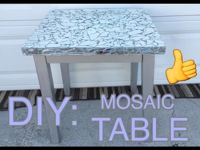 DIY : MOSAIC GLASS TABLE