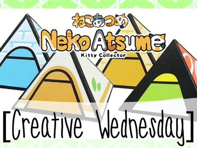 DIY NEKO ATSUME MINI TENT GIFT BOX.DECOR! [CREATIVE WEDNESDAY]