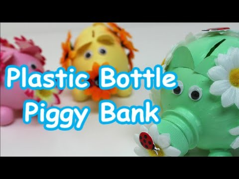 Diy piggy bank ideas cute plastic bottle piggy bank for How to make a simple piggy bank