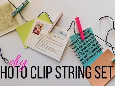 DIY ROOM DECOR || Photo Clip String Set