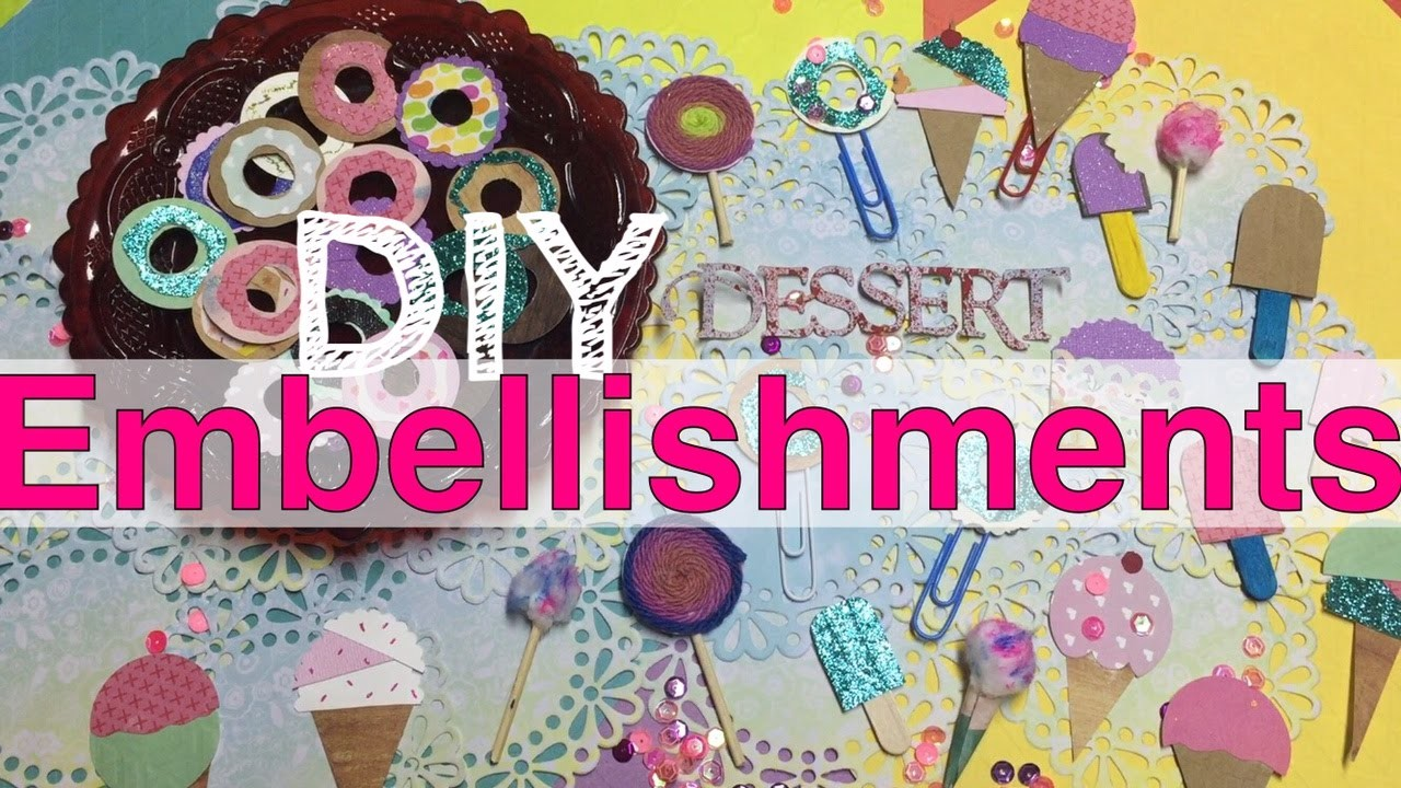 DIY Sweet Treat Embellishments & Planner Clips |Donuts & Ice Cream I'm A Cool Mom