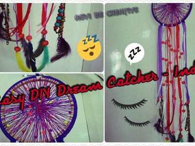 Easy and Cheap  DIY Dream Catcher - Room Decor- Indian Youtuber