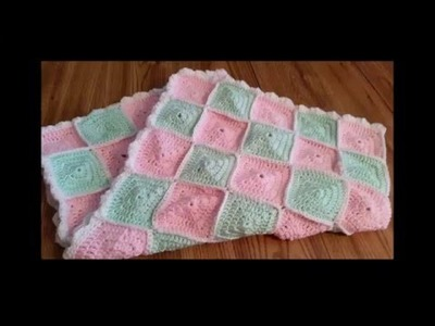 How to connect Crocheted Granny Squares - Baby Blanket Project Part 2