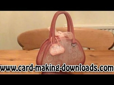 How To Make A Gift Box In A Handbag www.card-making-downloads.com