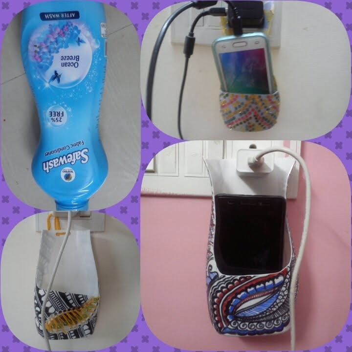 How to make phone holder with waste bottle