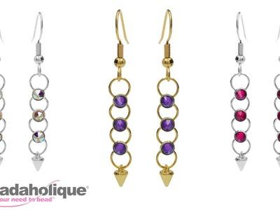 How to Make the Crystaletts Spike Earrings Kit