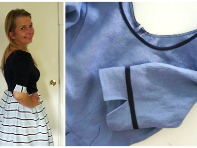 How to sew a Sleeve Cuff - Sewing Tutorial DIY