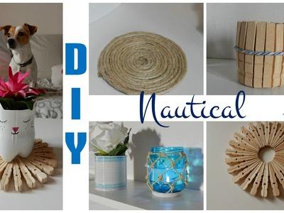 Nautical themed room decor #2. Beach decor DIY. Déco chambre