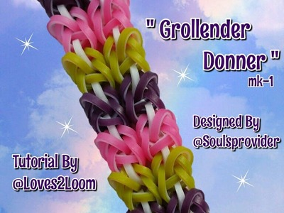 "New ""Grollender Donner""mk-1 Hook Only Bracelet.Rainbow Loom How To"