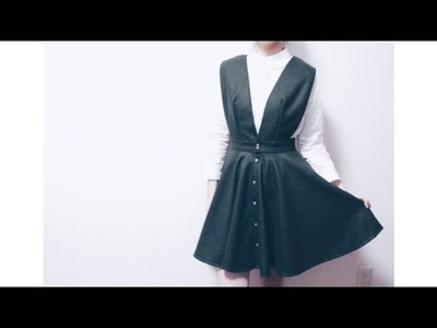 Sewing + DIY Button Front Circle Skirt Dress
