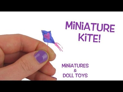 Tiny Miniature Kite for your Barbies and Monster High Dolls! DIY Tutorial!