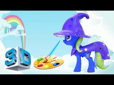 3d printed custom My little Pony Trixie diy painted craft toy HD