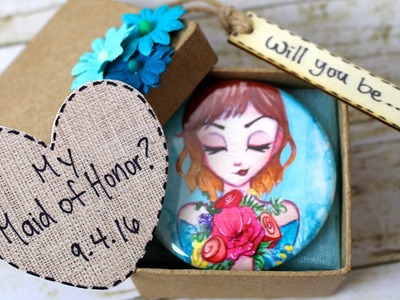Be My Bridesmaid? DIY Art Invitation by Leilani Joy