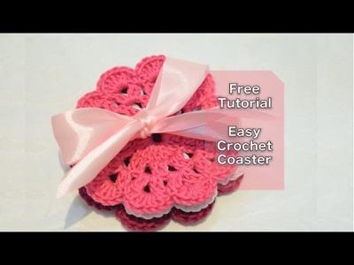 Crochet Coaster for Beginners Tutorial