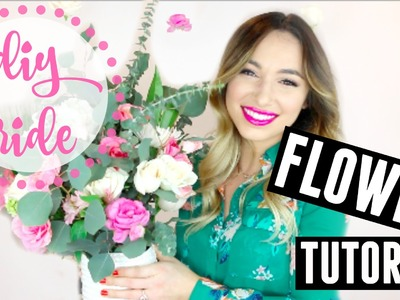 D.I.Y. BRIDE | FLOWER TUTORIAL | ARRANGEMENT & FLOATING WALL ART!