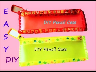 DIY Back to School: How to make cute  and adorable pencil case for kids