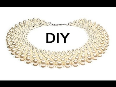 DIY: Beaded collar ❤ How to make jewelry [ENG]