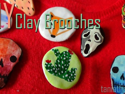 DIY Clay Brooches