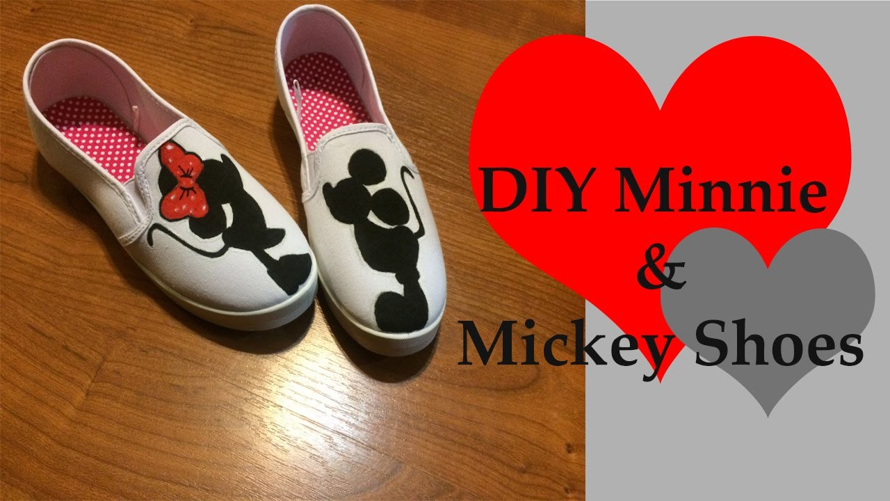 DIY Disney Mickey and Minnie Shoes - Drawing Tutorial to follow soon!!!