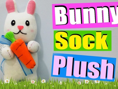 DIY Easter Bunny Sock Plush - How to make Easter Bunny Plush (Octoboo)