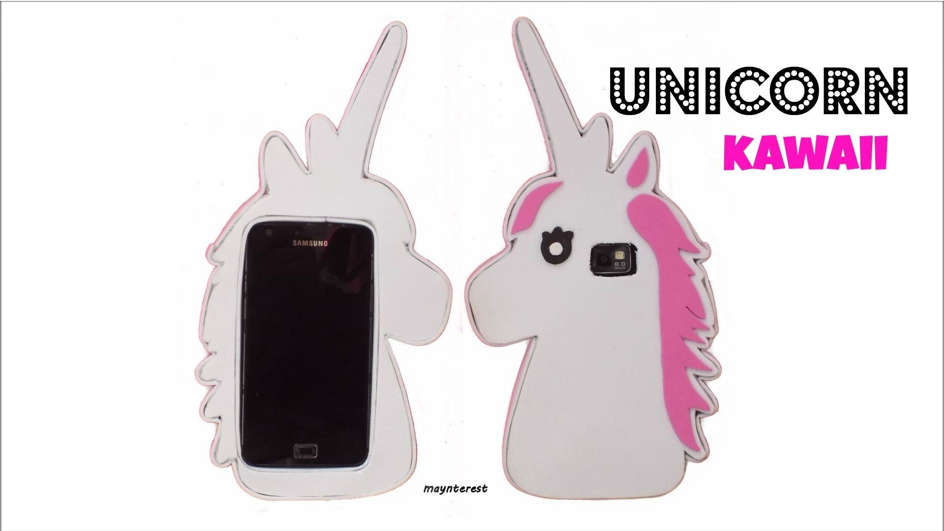 DIY: How to make a kawaii unicorn PHONE CASE