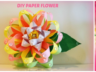 Diy Paper Crafts Projects : How to make a paper flower wedding.party centerpiece.decor