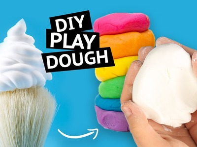 DIY Play Dough Out of Shaving Cream - How to make PLAY DOUGH with only TWO INGREDIENTS!