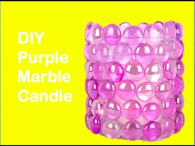 DIY Purple Marble Candle