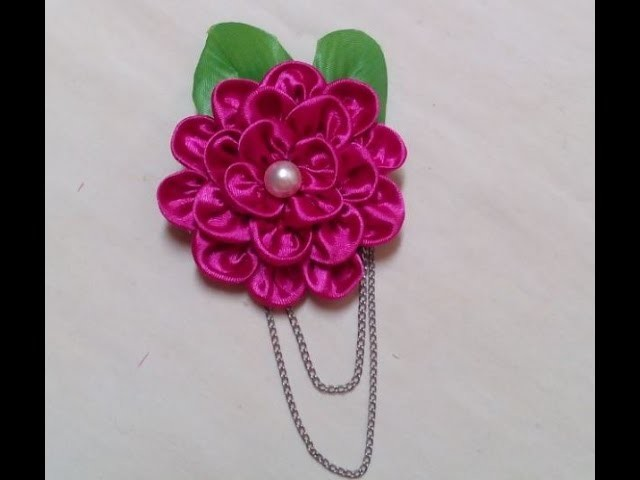 Diy Ribbon Roses, How to Make Flower Hair Accessories + Tutorial