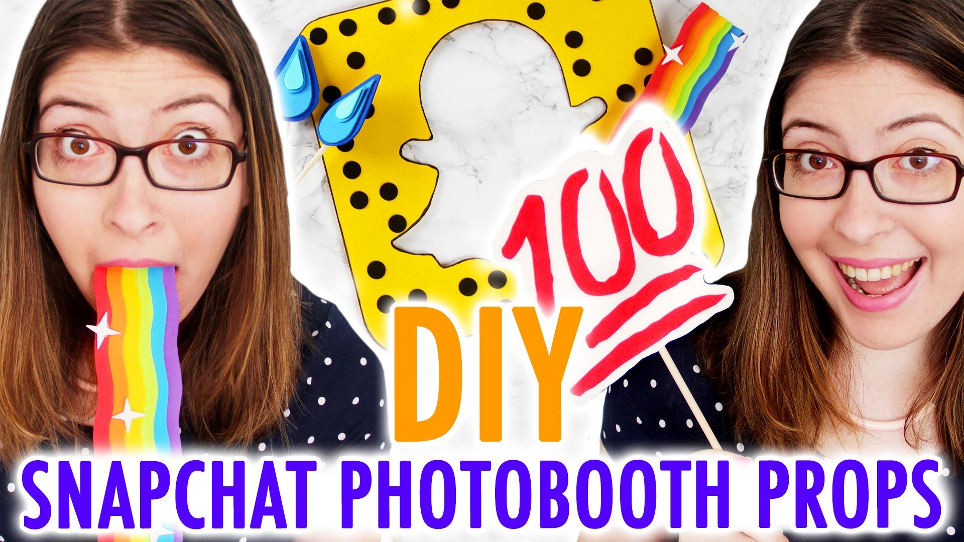 DIY Snapchat-Inspired Photobooth Props - HGTV Handmade