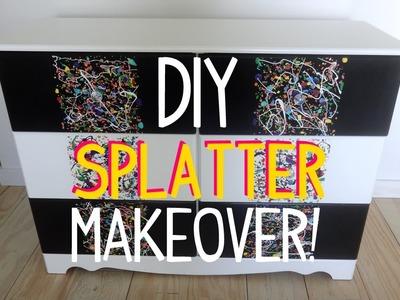 DIY Splatter Paint Dresser Makeover!