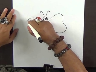Drawing For Kids – Step-By-Step How to Draw Butterfly with MR. MJ