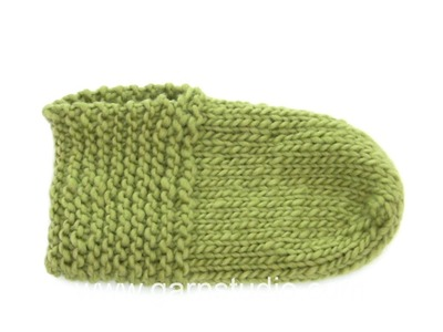 DROPS Knitting Tutorial: How to work the slippers in DROPS Extra 0-1247
