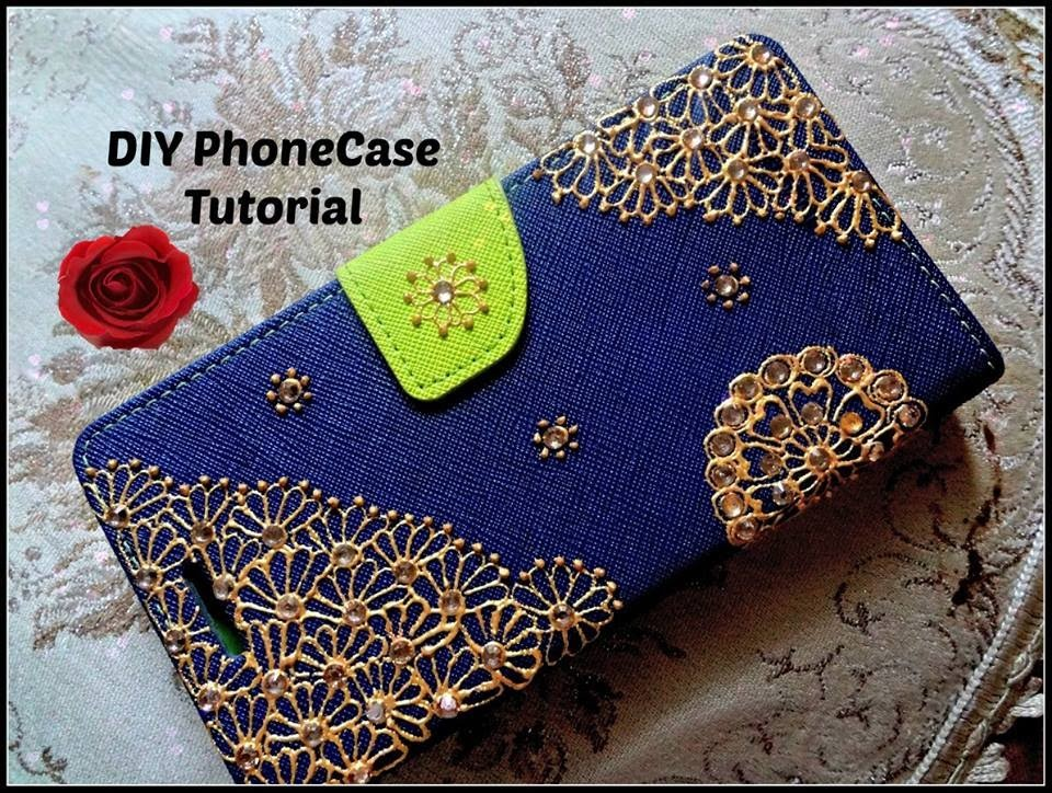 Easy DIY: Best and Beautiful cell phone mobile case henna mehndi inspired Design Tutorial