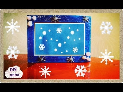 FROZEN  picture frame DIY decoration craft ideas tutorial. URADI SAM