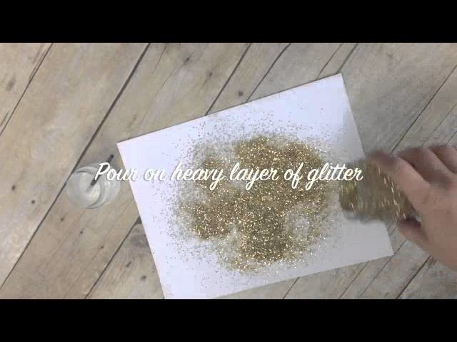 How to Create Clean Crisp Lines when Using Glitter
