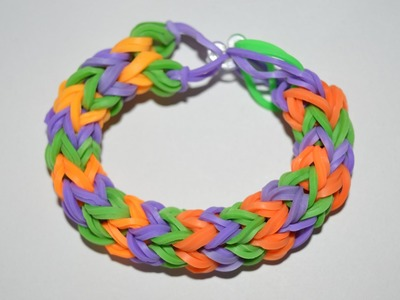 How to Make a Double Rubber Band Bracelet - Step by Step Instruction Tutorial - Mazichands.com