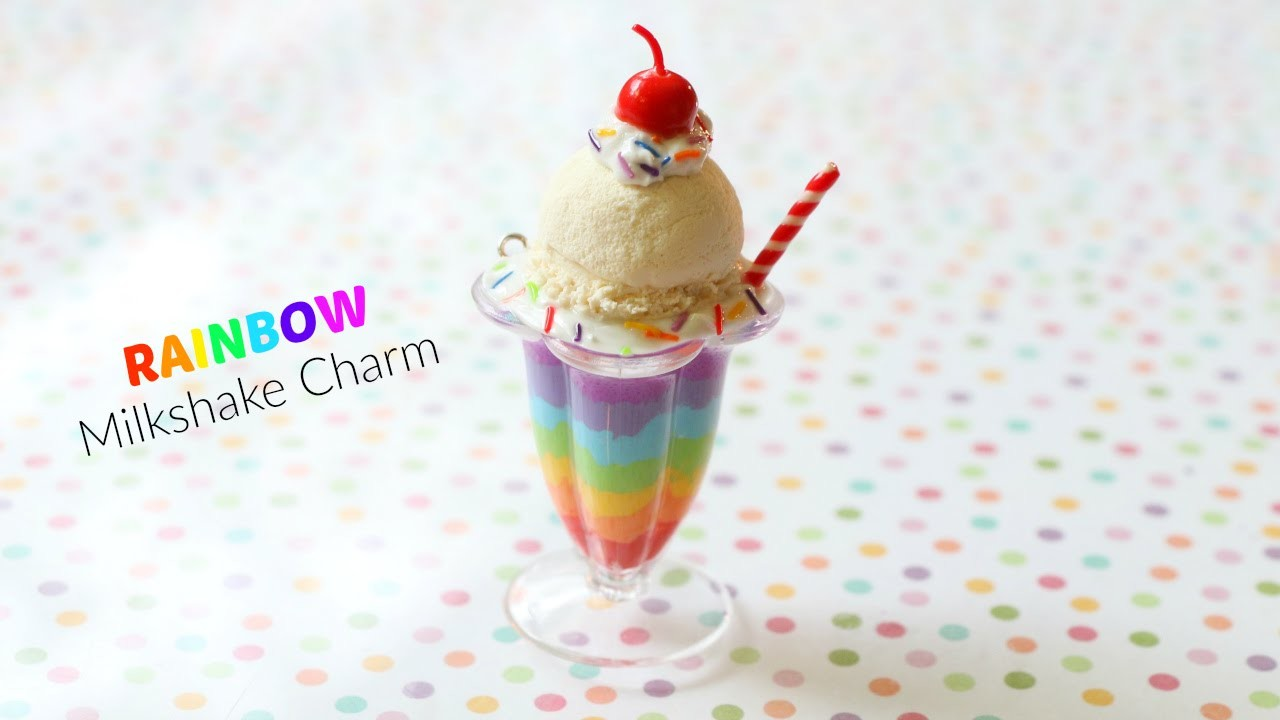 How to Make a Mini Rainbow Milkshake Charm