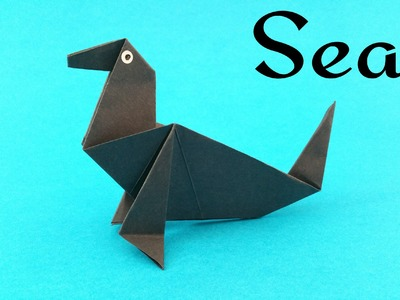 "How to make a paper ""Seal(Sea Lion)"" - Animal Origami tutorial"