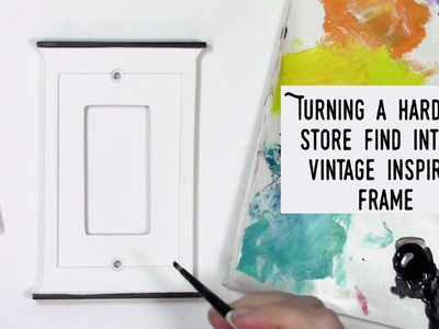 How to make a vintage frame out of a hardware store find