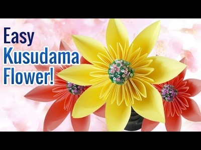 How to Make Beautiful & Super Easy DIY Paper Flowers | Kusudama Flower | DIY Crafts
