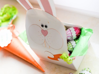 How to Make - Easter Sweet Gift Bunny Basket - Step by Step | Koszyk Wielkanocny Królik