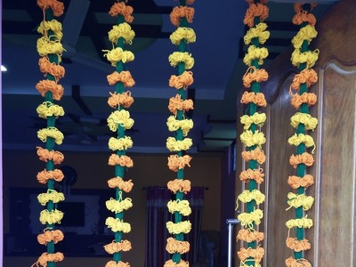 HOW TO MAKE HANDLOOM WOOL FLOWER GARLAND: EASY AND FUN PROJECT